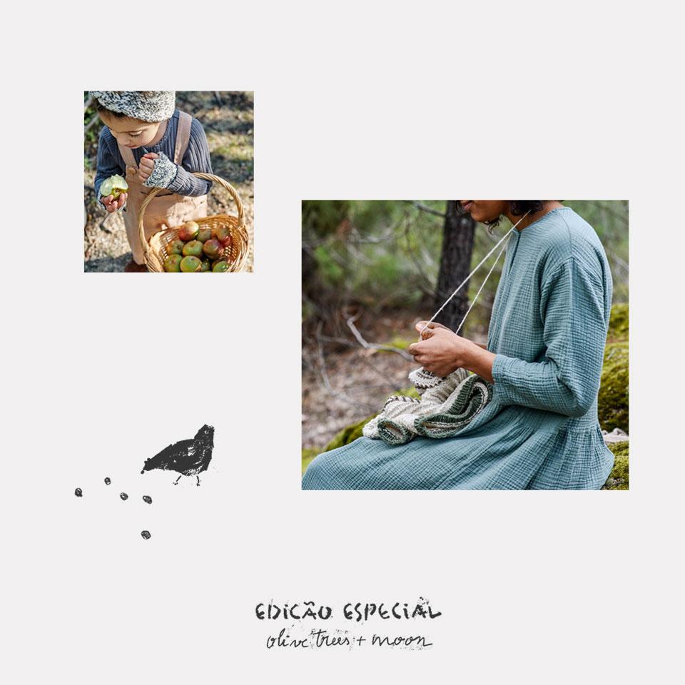 Vestido de algodão orgânico para mulher