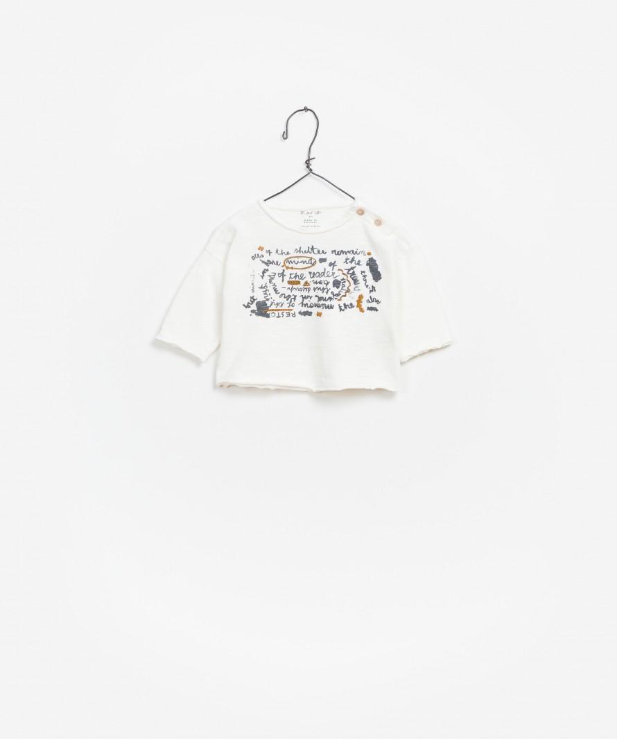 T-shirt  Jersey Flamê Manga Comprida
