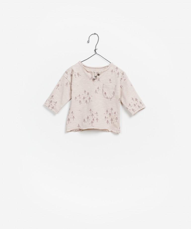 T-Shirt Jersey Flamê Estampada Manga Comprida