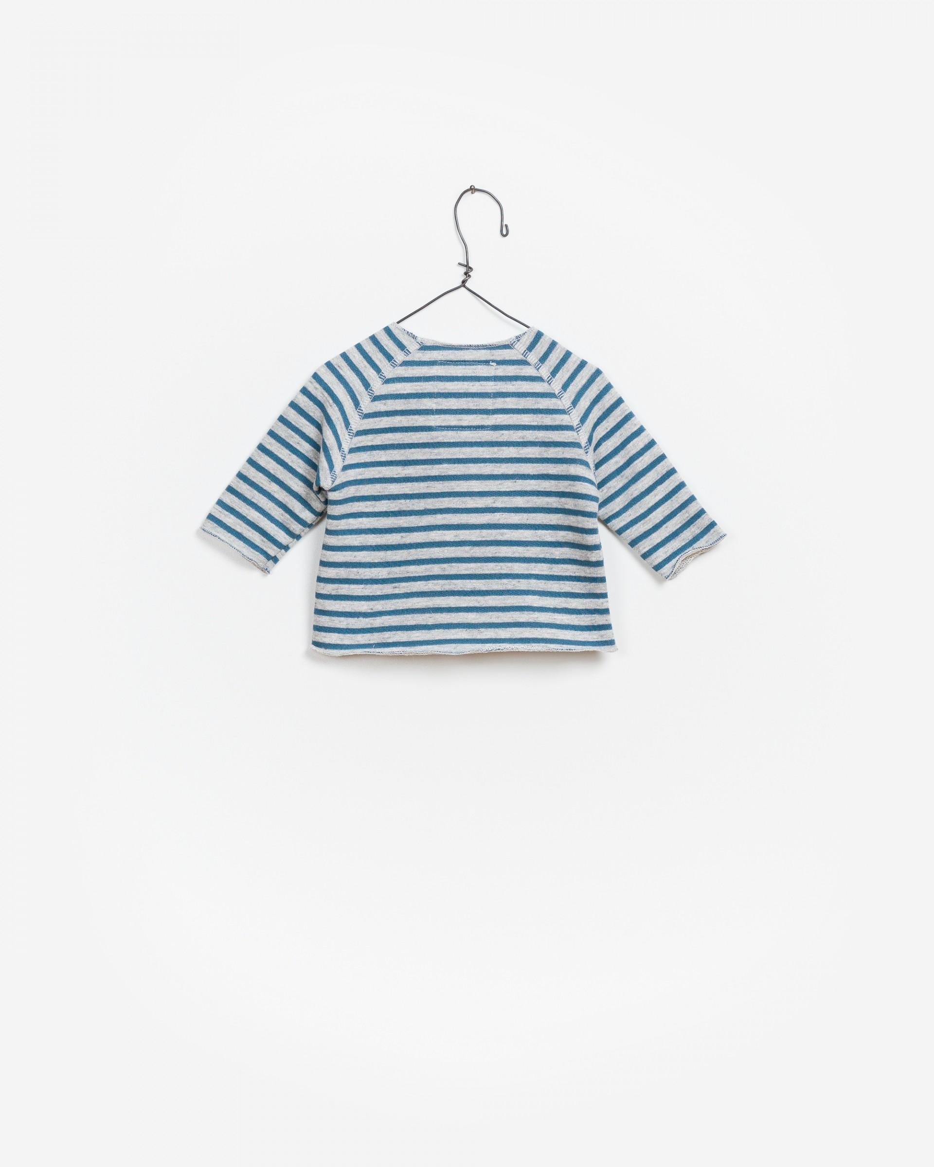 Striped Fleece Sweater
