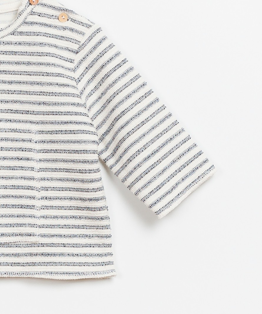 Spriped Interlock Sweater