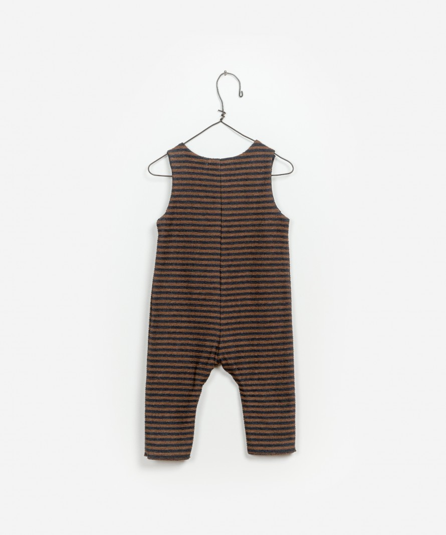 Striped Interlock Jumpsuit