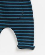 Striped Ponto Roma Legging