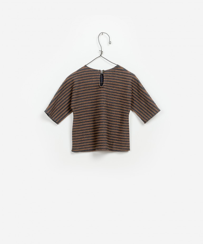 Striped Interlock Sweater