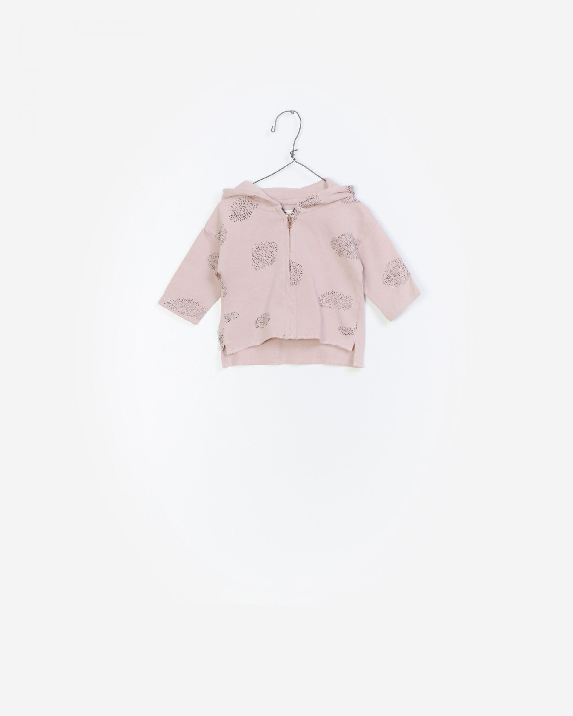 Printed Fleece Zip Jacket