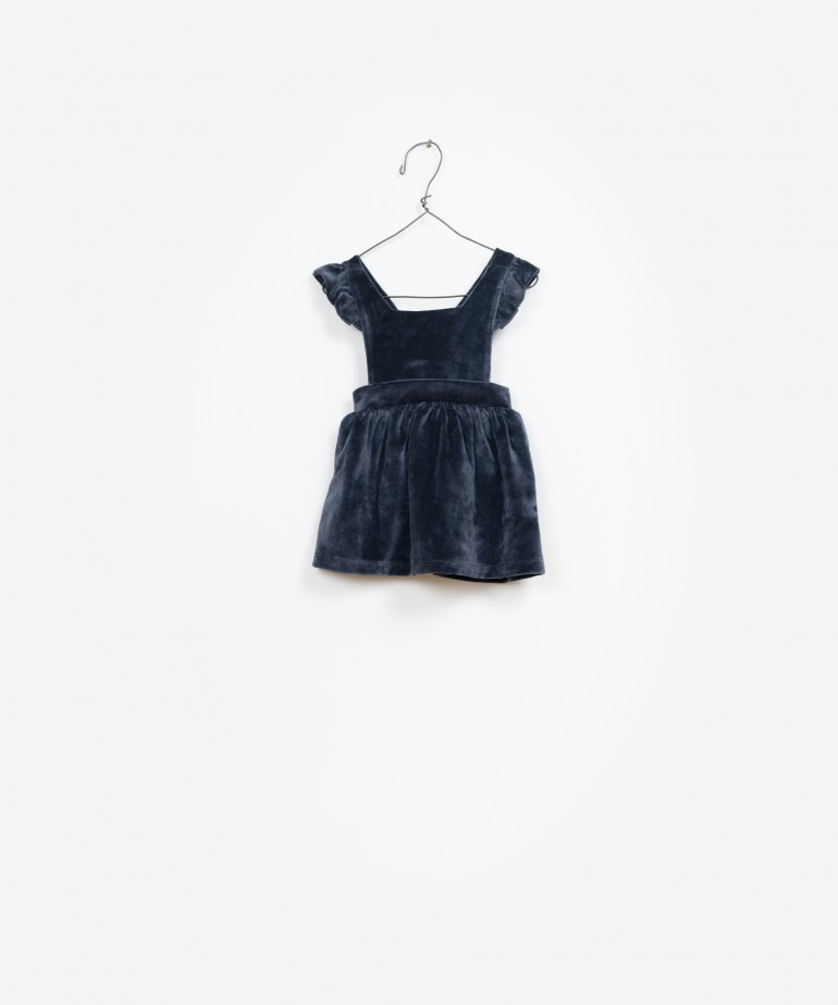 Velvet Dungaree Skirt