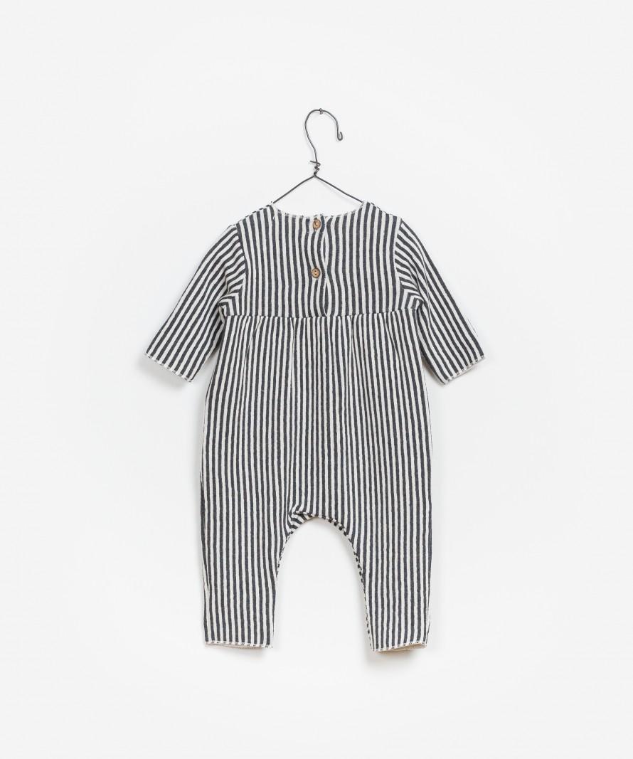 Striped Double Face Jumpsuit