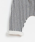 Striped Double Face Trousers