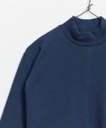 Camiseta 1/2 Cuello Alto Rib