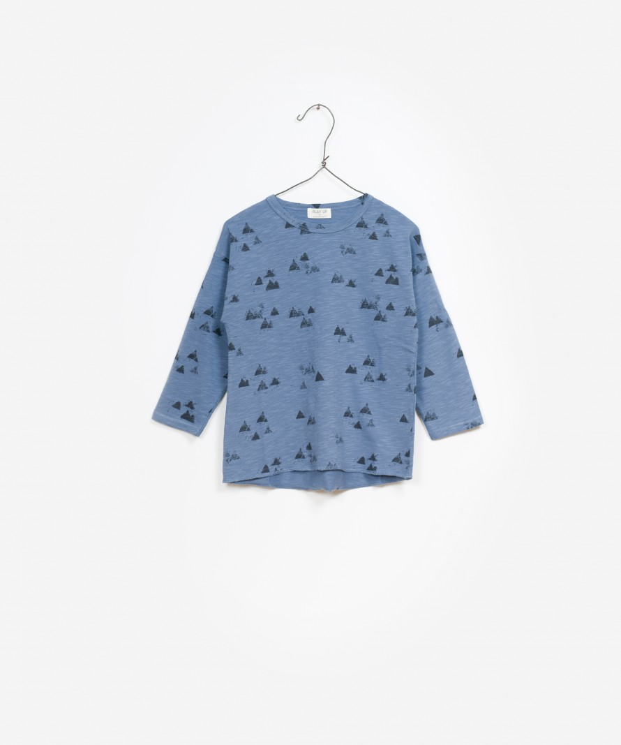 T-Shirt Jersey Flamê Estampado Manga Comprida