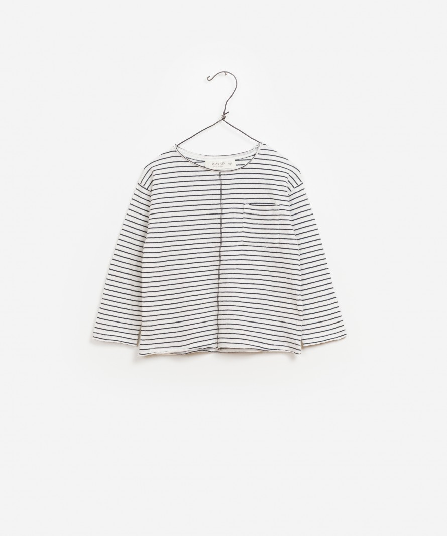 T-shirt Jersey Riscas Manga Comprida