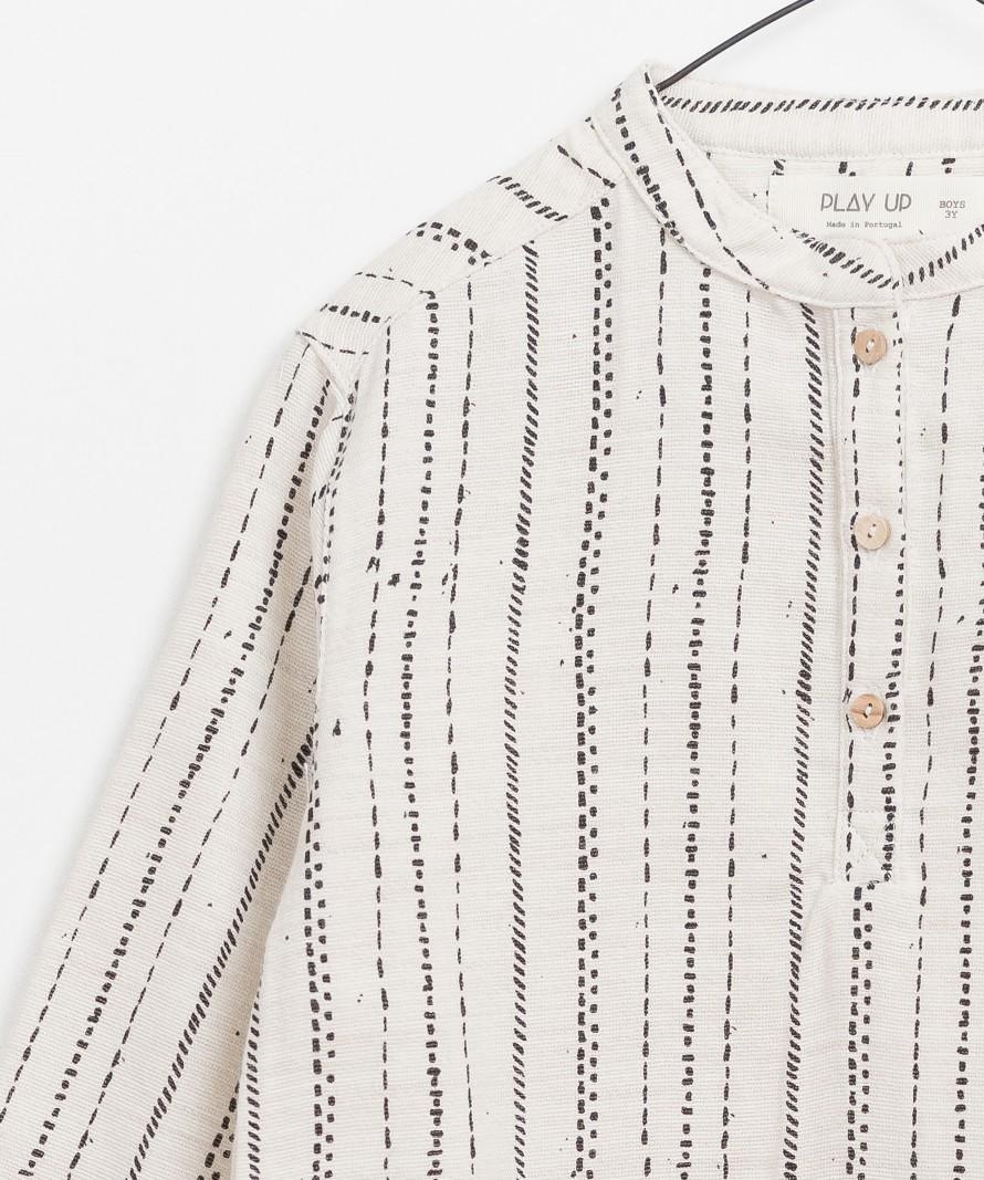 Camisa de Tecido Estampada