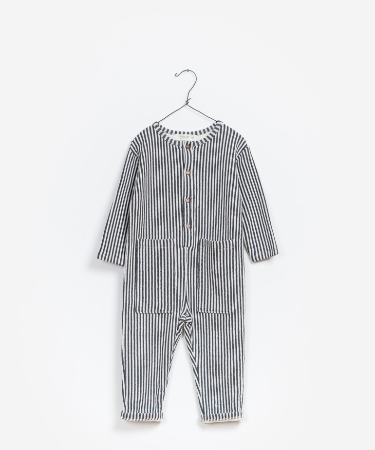 Striped Double Face Jumpsuit