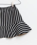 Striped Ponto Roma Skirt