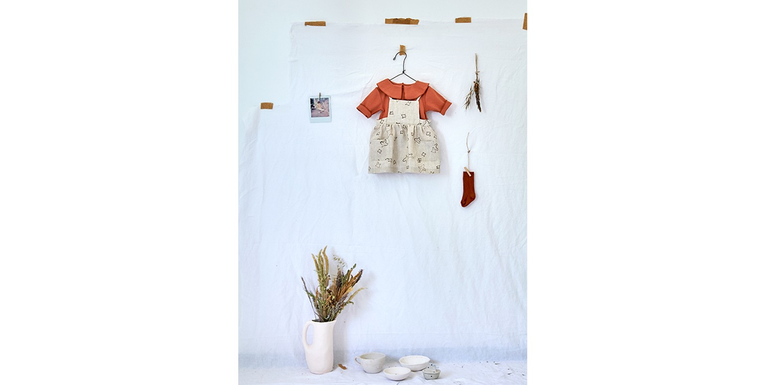 Baby girl clothes | dungaree skirt