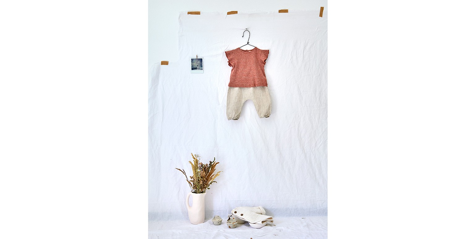 Baby girl clothes | linen trousers