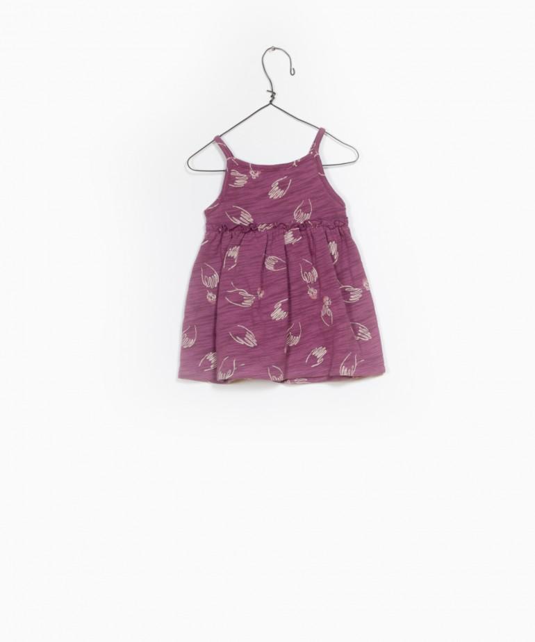 Printed Flamé Jersey Dress
