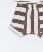 Striped Fleece Shorts
