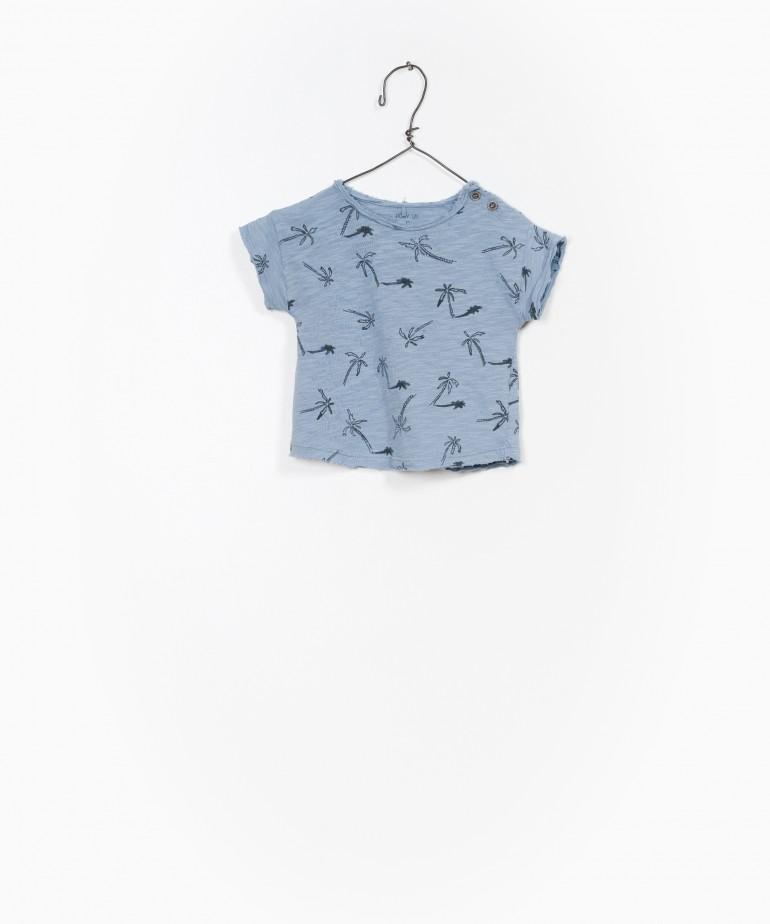 T-Shirt estampada palmeiras