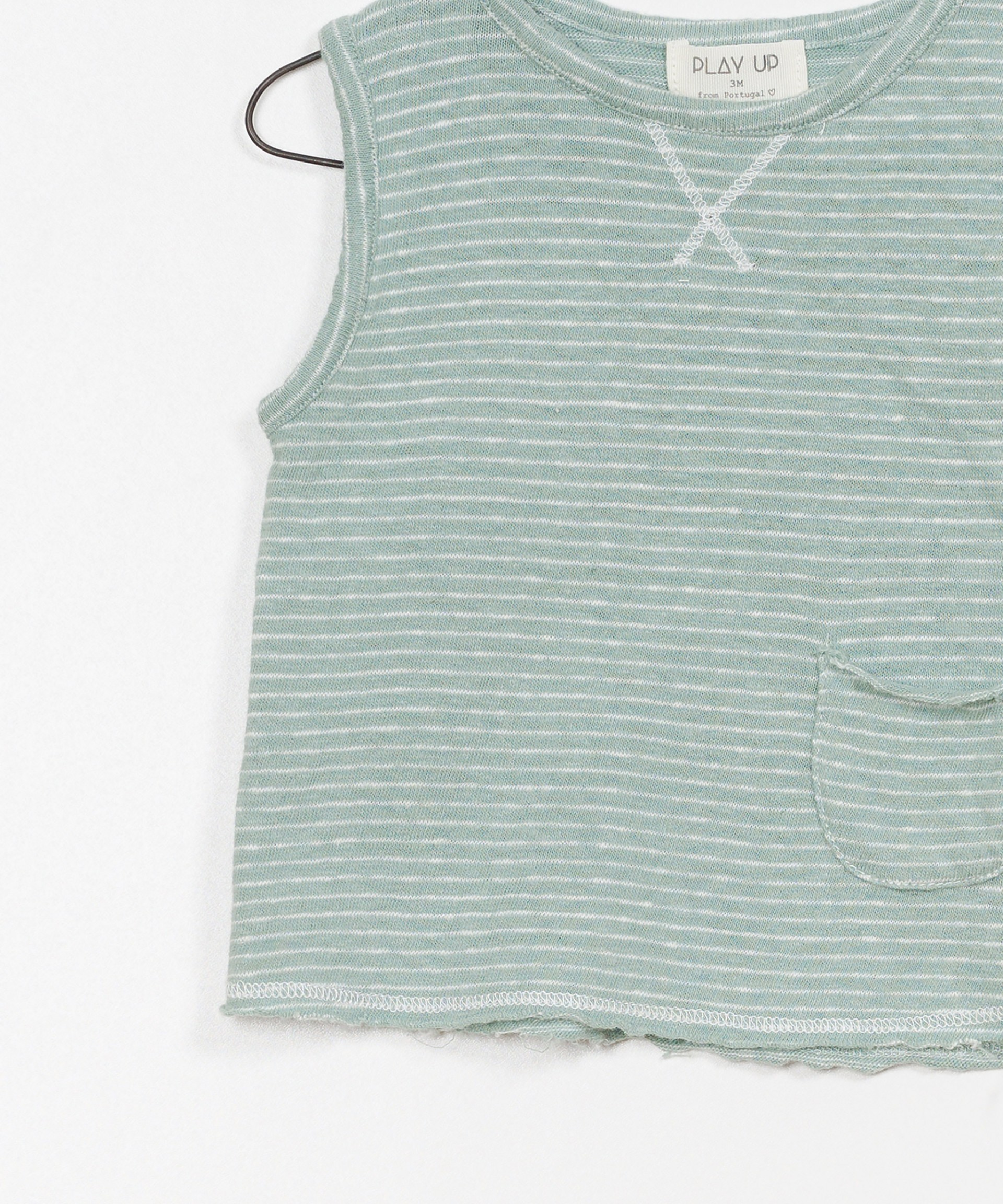 Striped Jersey Sleeveless T-shirt
