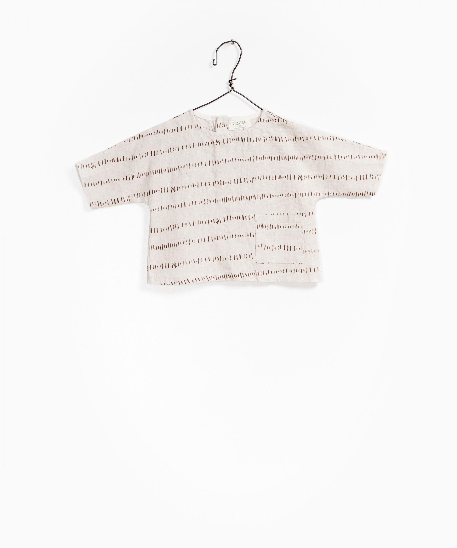 Camisa en Lino Estampado