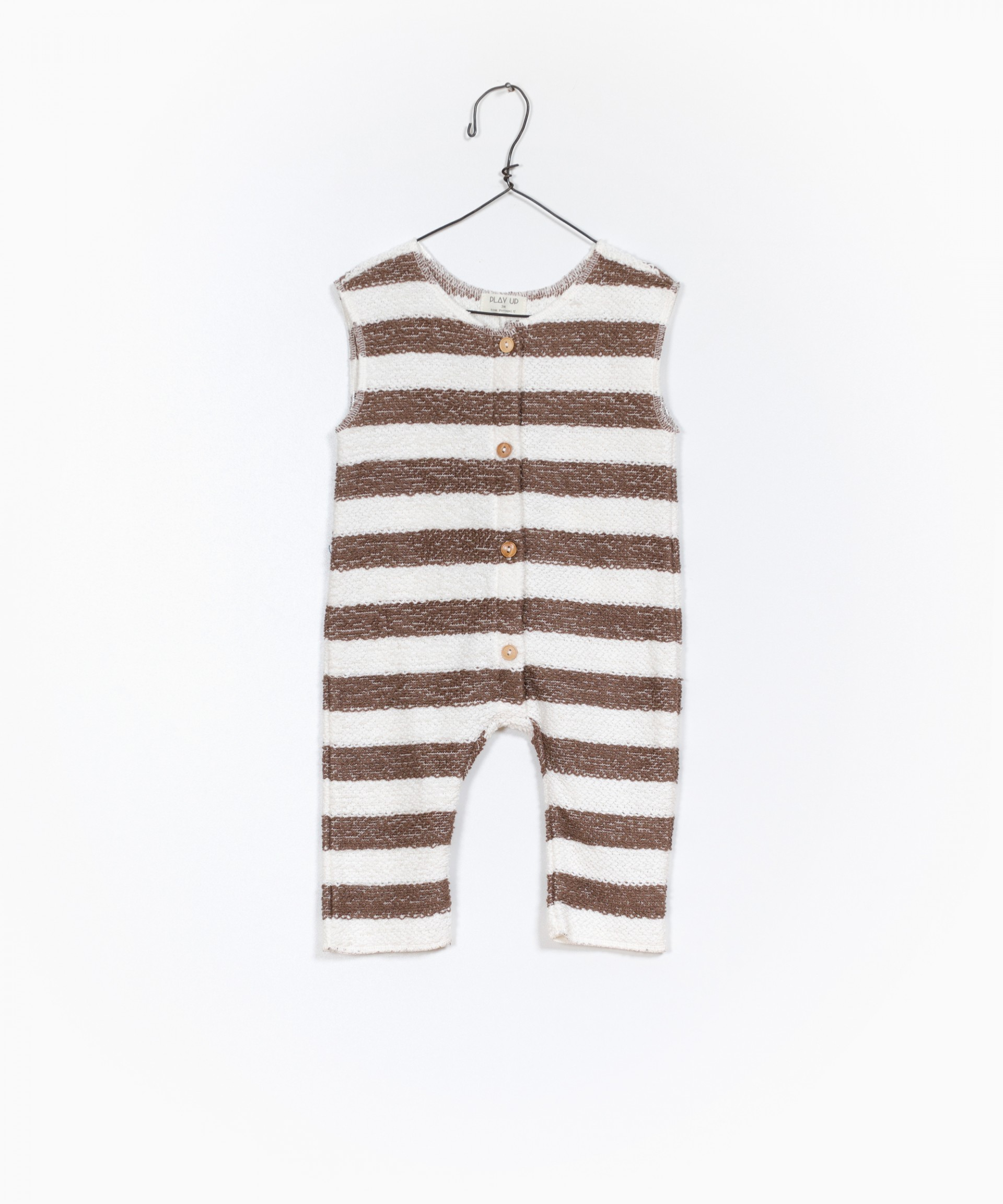 Striped Fleece Jumpsuit