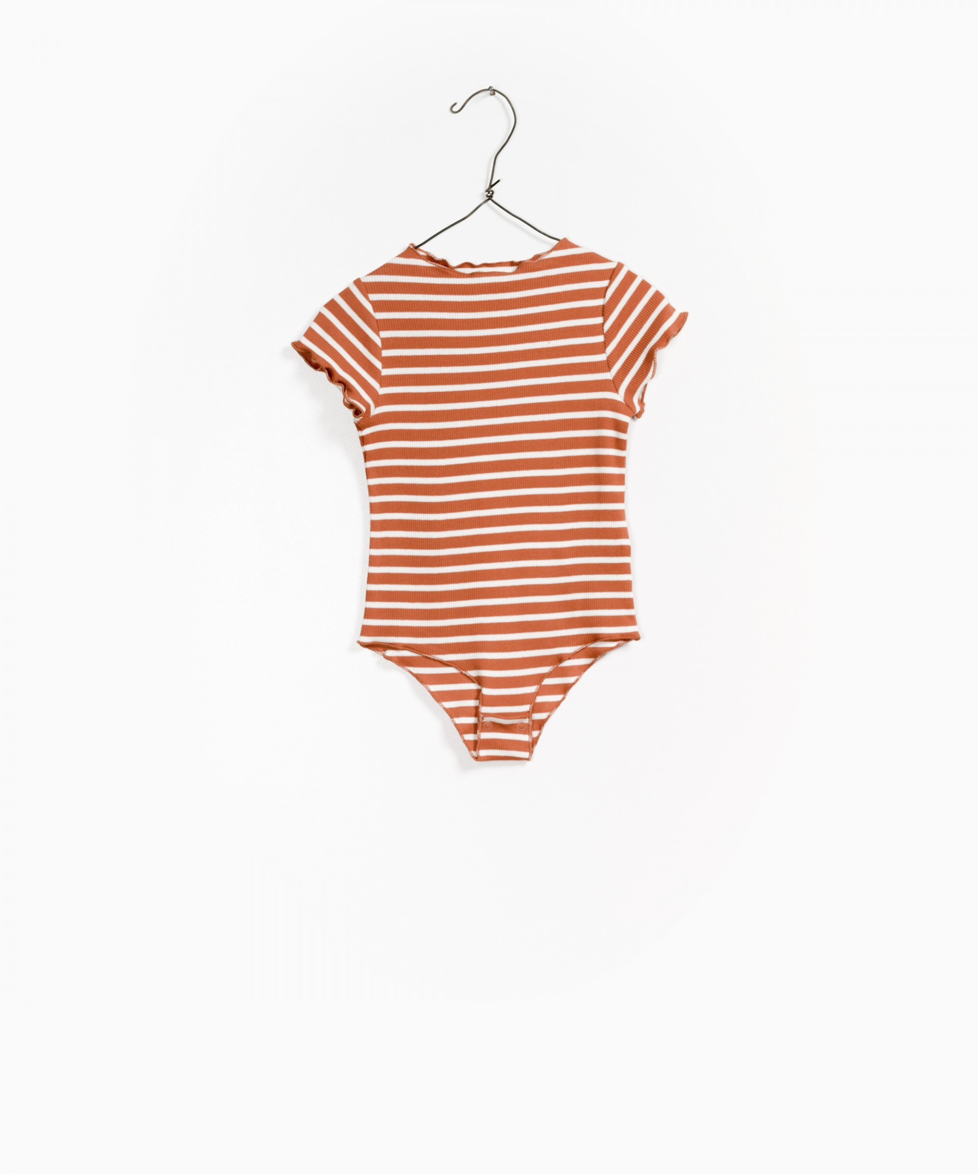 Striped RIB Bodysuit