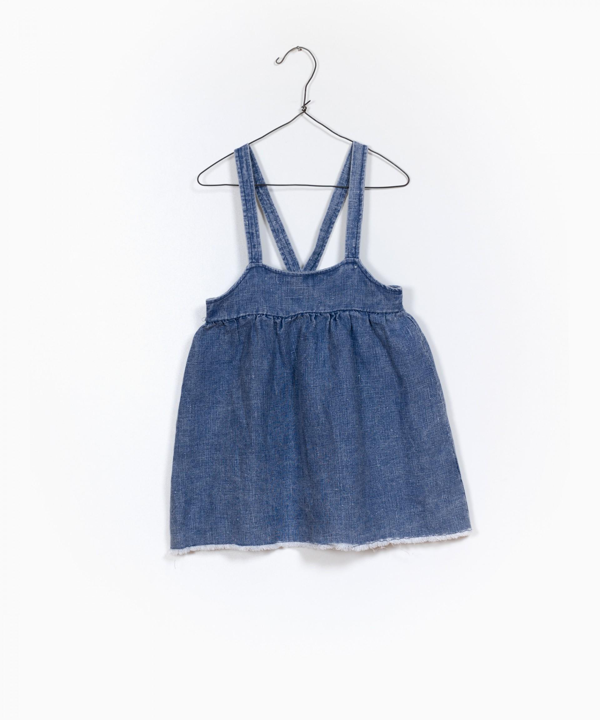 Woven Dungaree Skirt