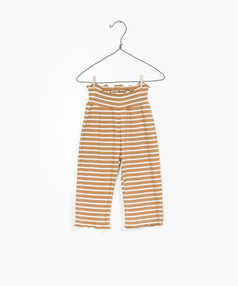 Striped RIB Trousers