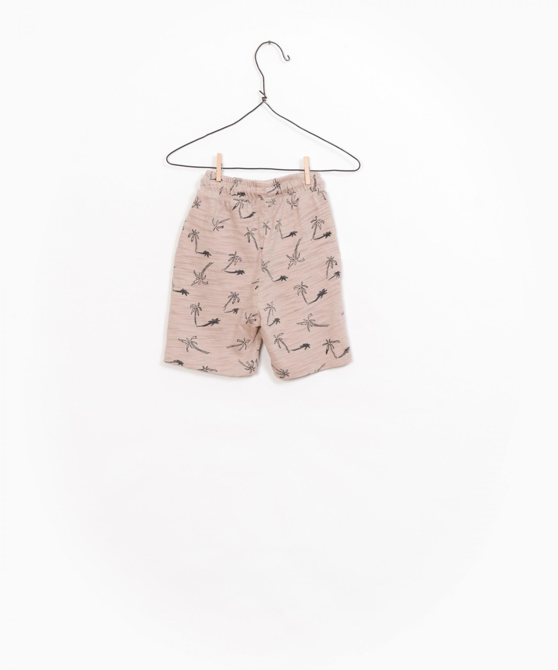 Printed Flamé Jersey Shorts