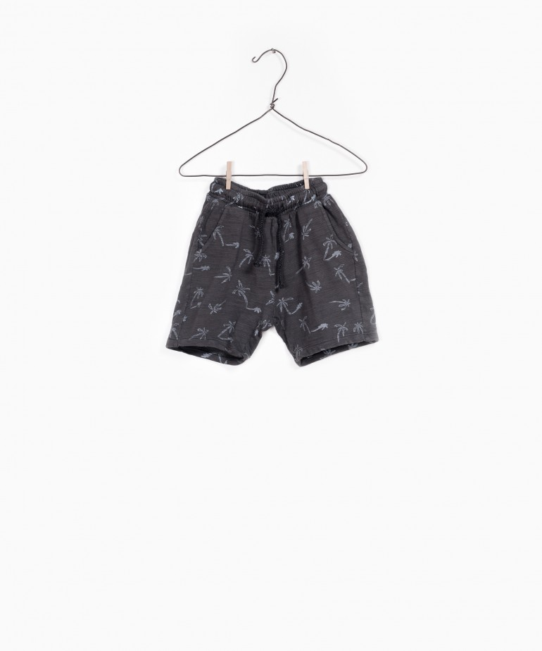 Printed Flamé Jersey Shorts
