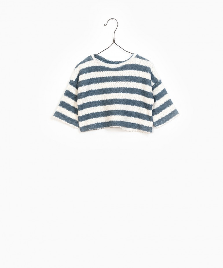 Striped Fleece Sweater