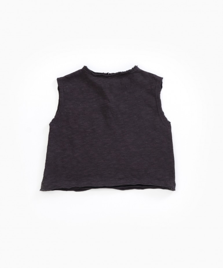 Flamé Jersey Sleeveless T-shirt
