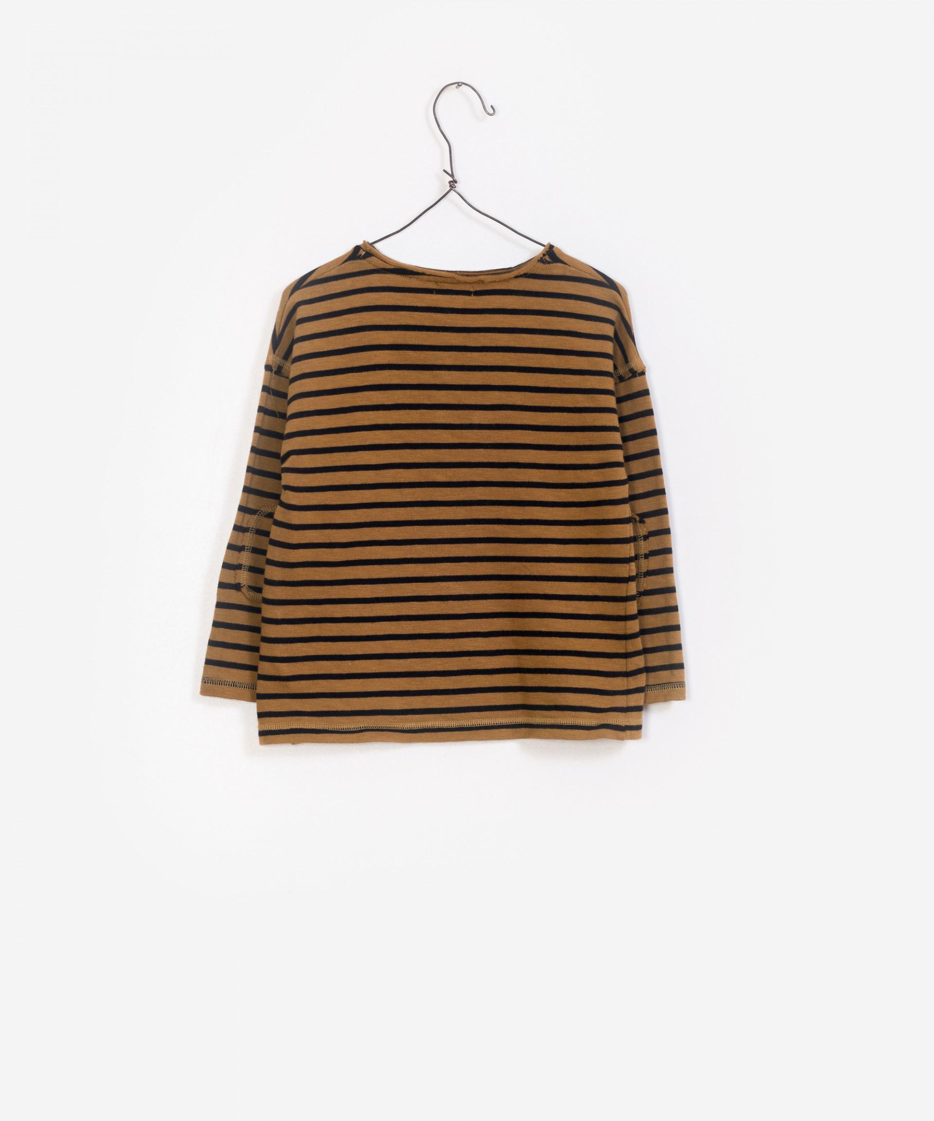 T-Shirt franzido, 100% algodão orgânico