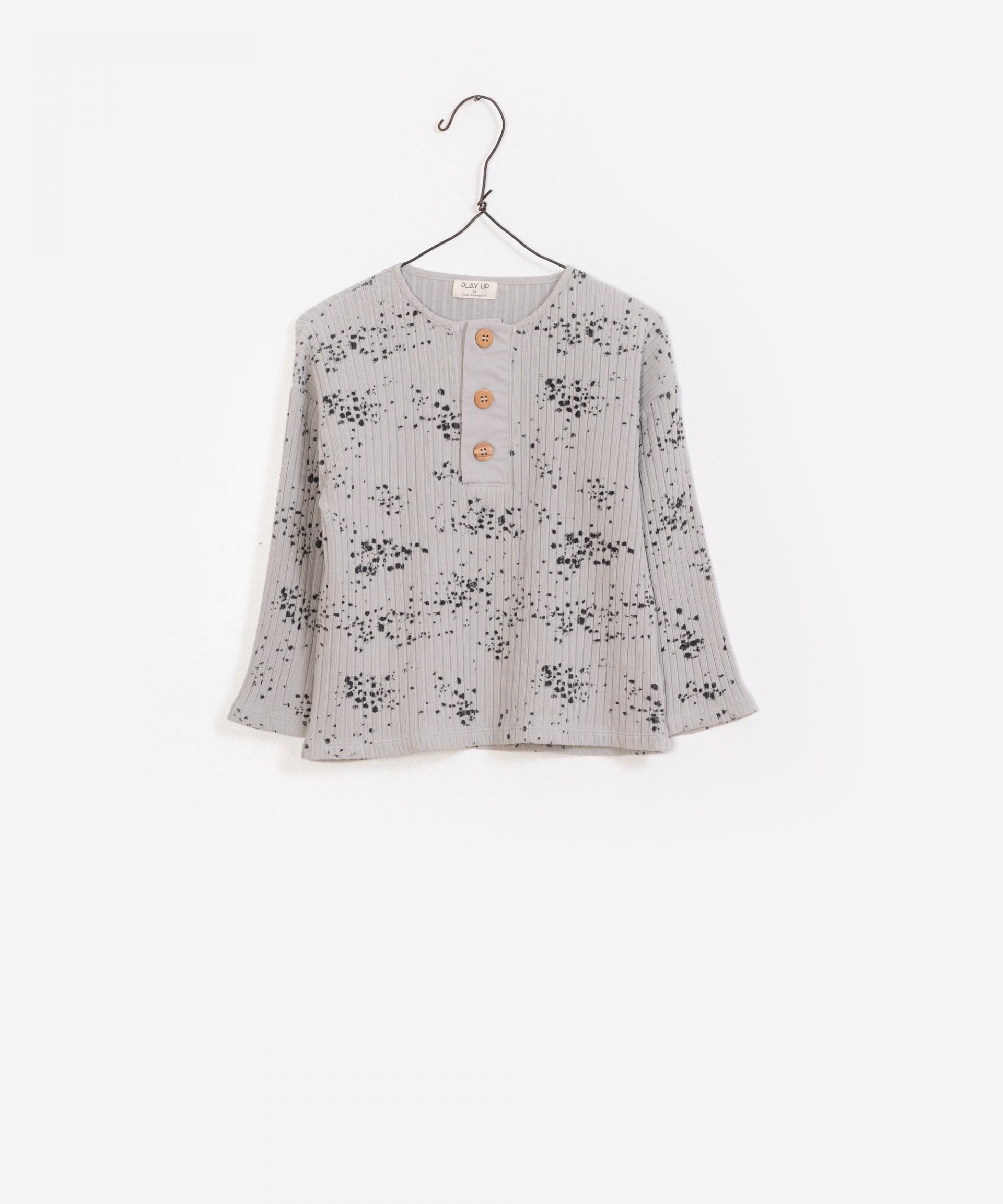 T-Shirt Rib Canelado Estampada