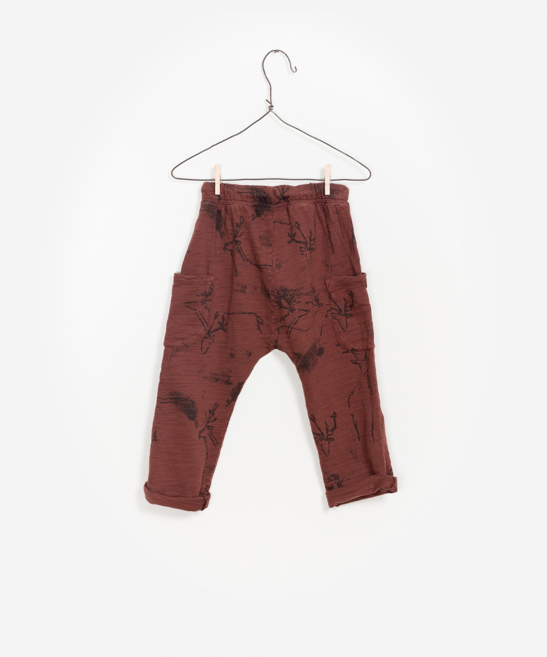 Printed Flamé Jersey Trousers