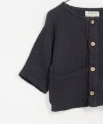 Organic cotton embossed shirt