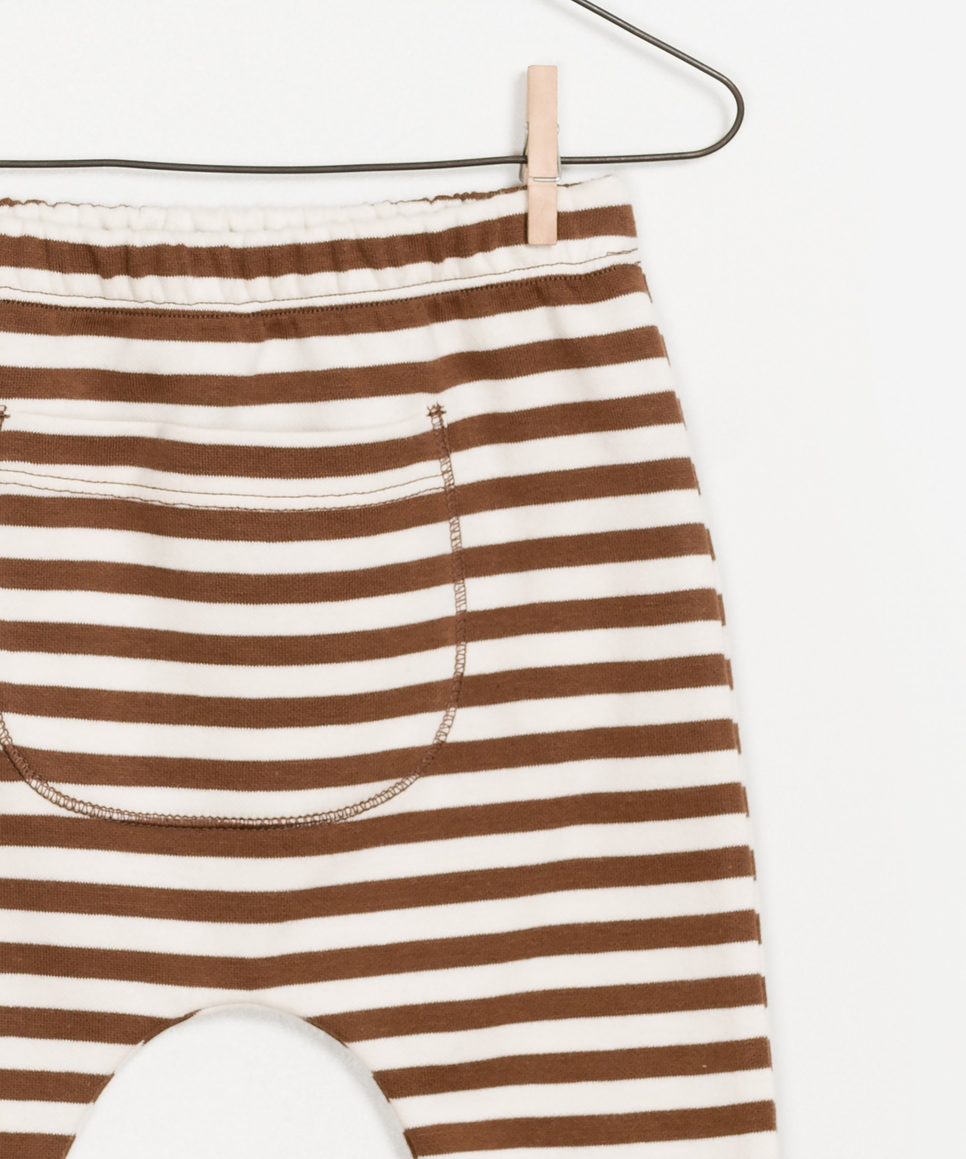 Striped Ponto Roma Legging 100% organic cotton