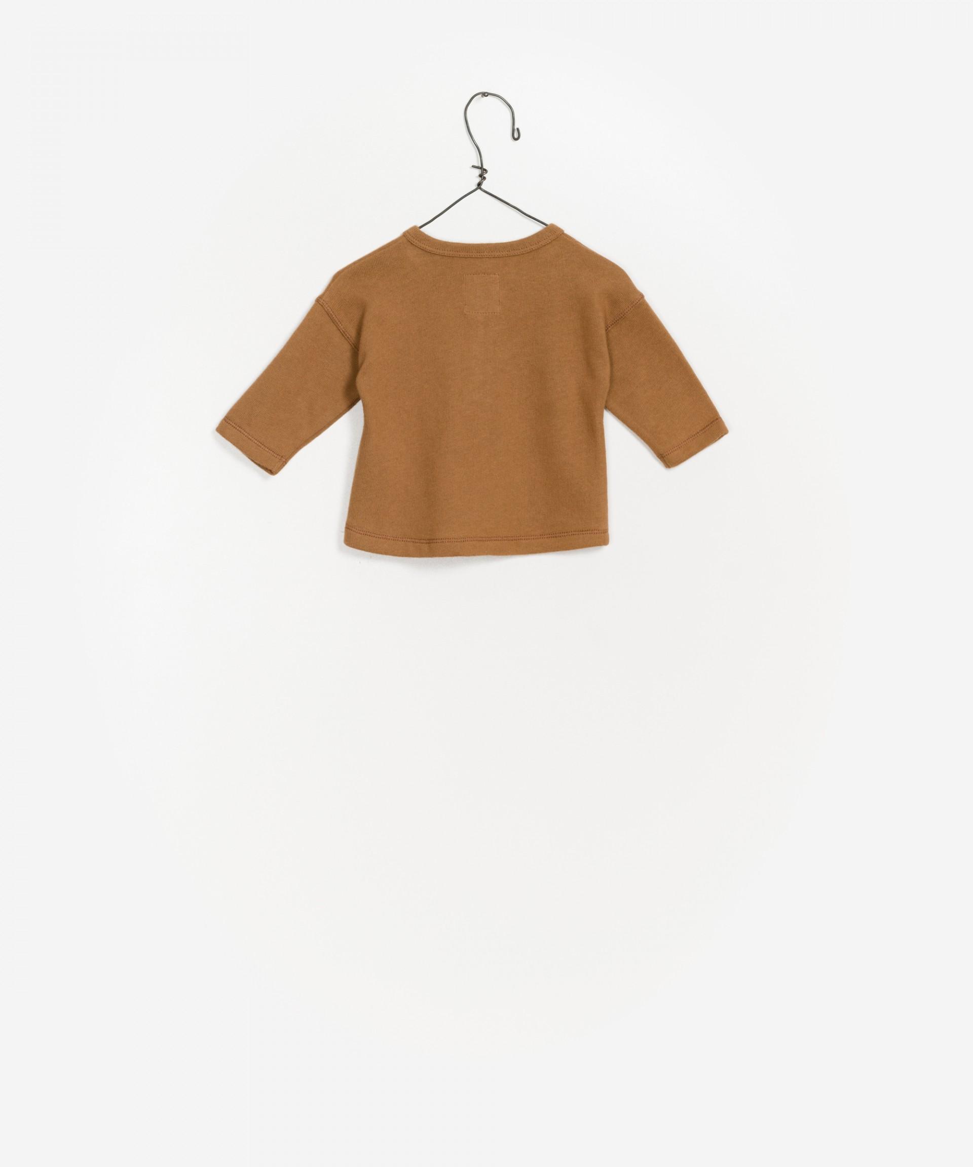 Camisola de manga comprida lisa