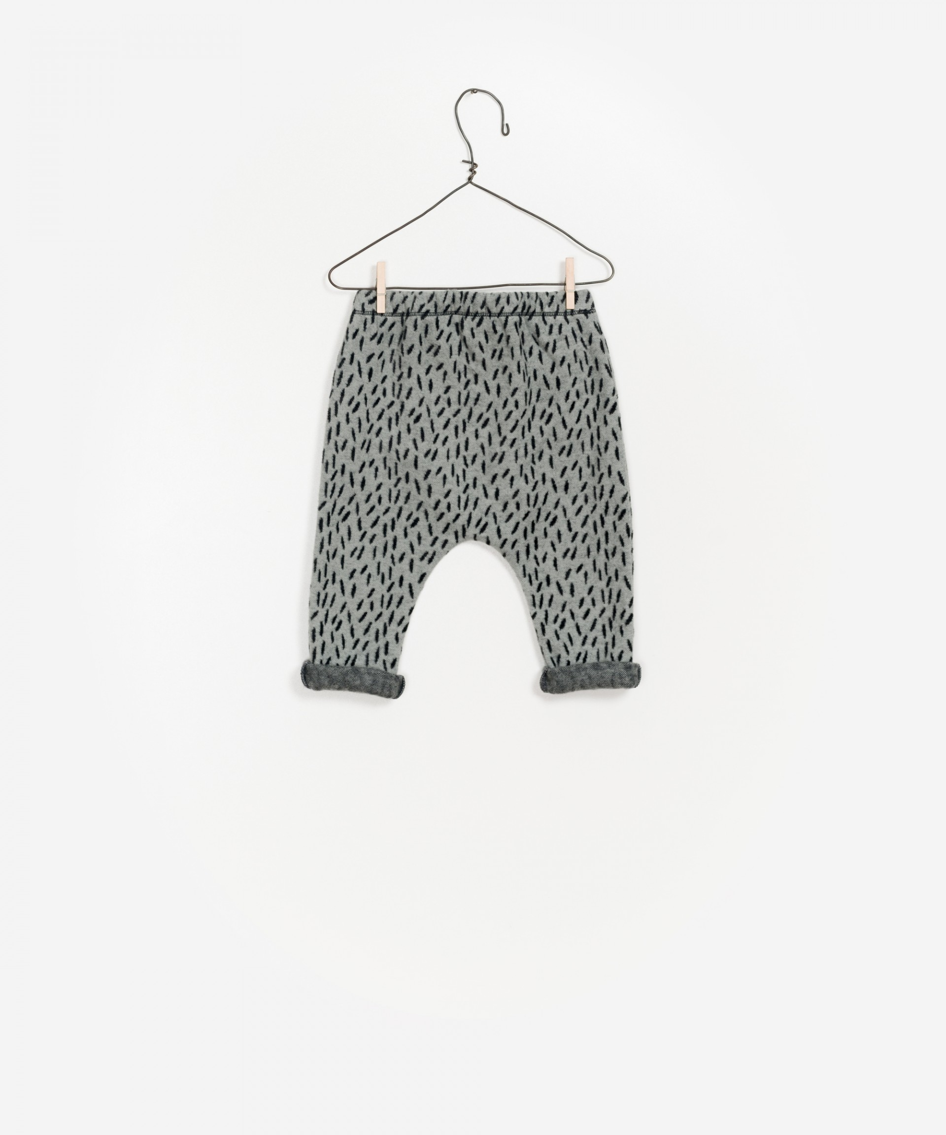 Pantaloni jacquard in cotone biologico 100%