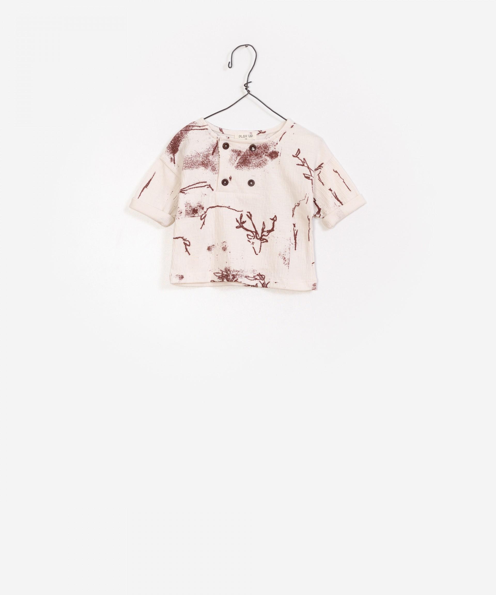 Camisa de jersey estampada