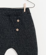 Low waisted pants in organic cotton