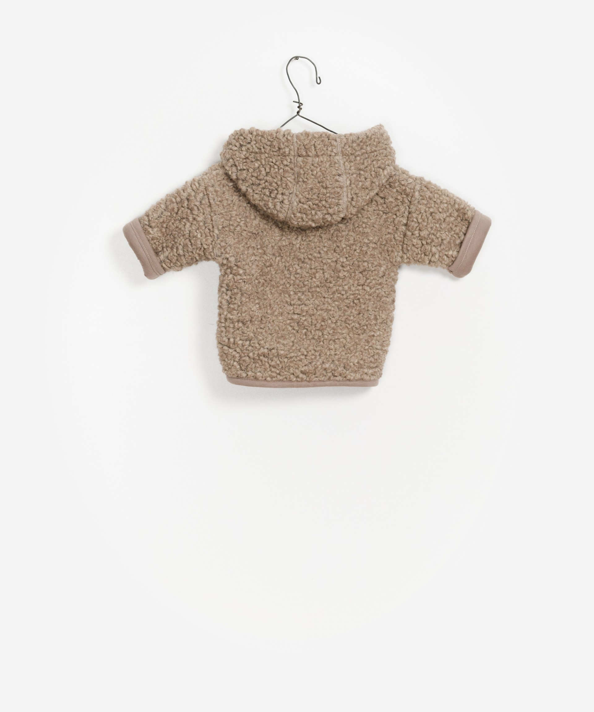 Teddy cappotto hoody