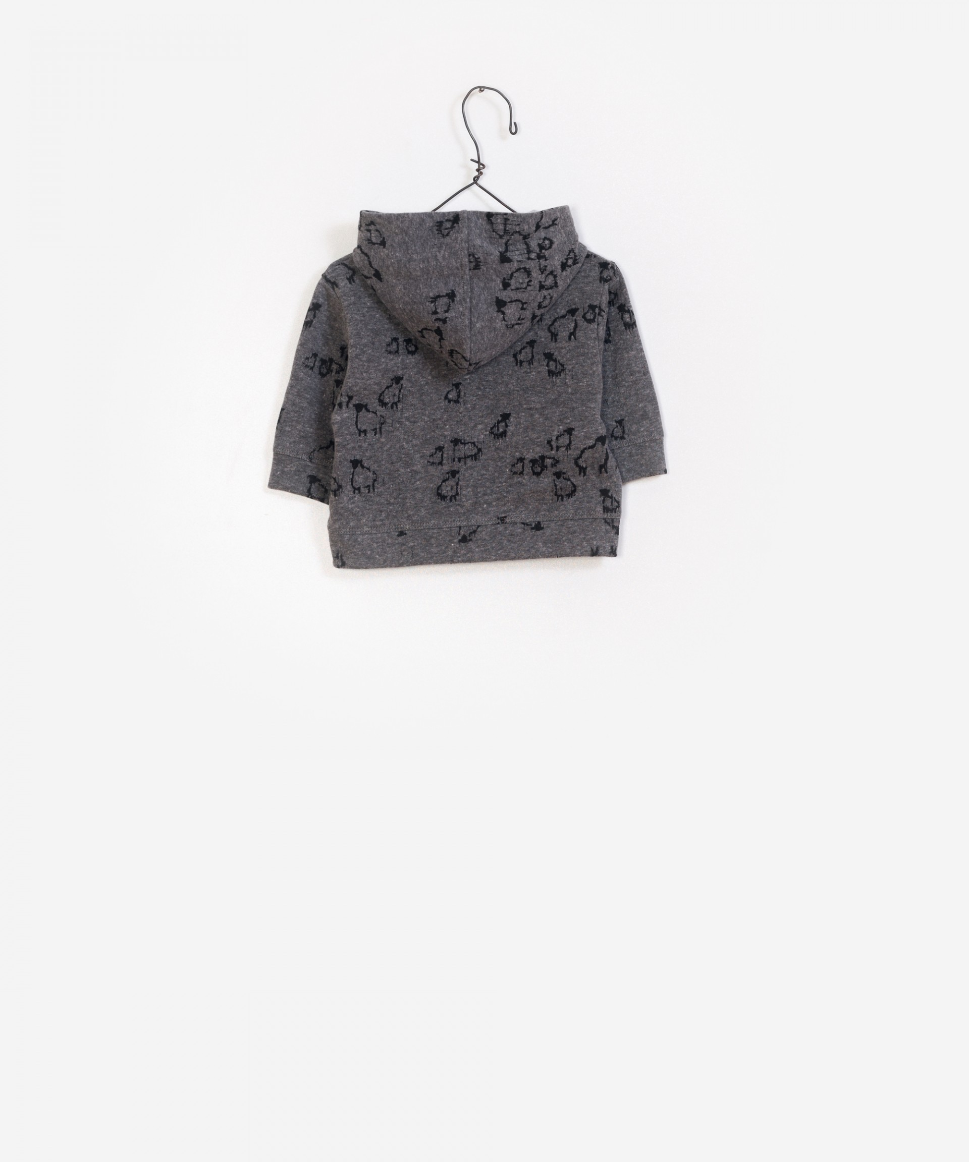 Felpa Coat Printed Hood