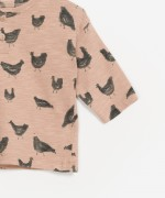 Camiseta de manga larga 100% algodón orgánico