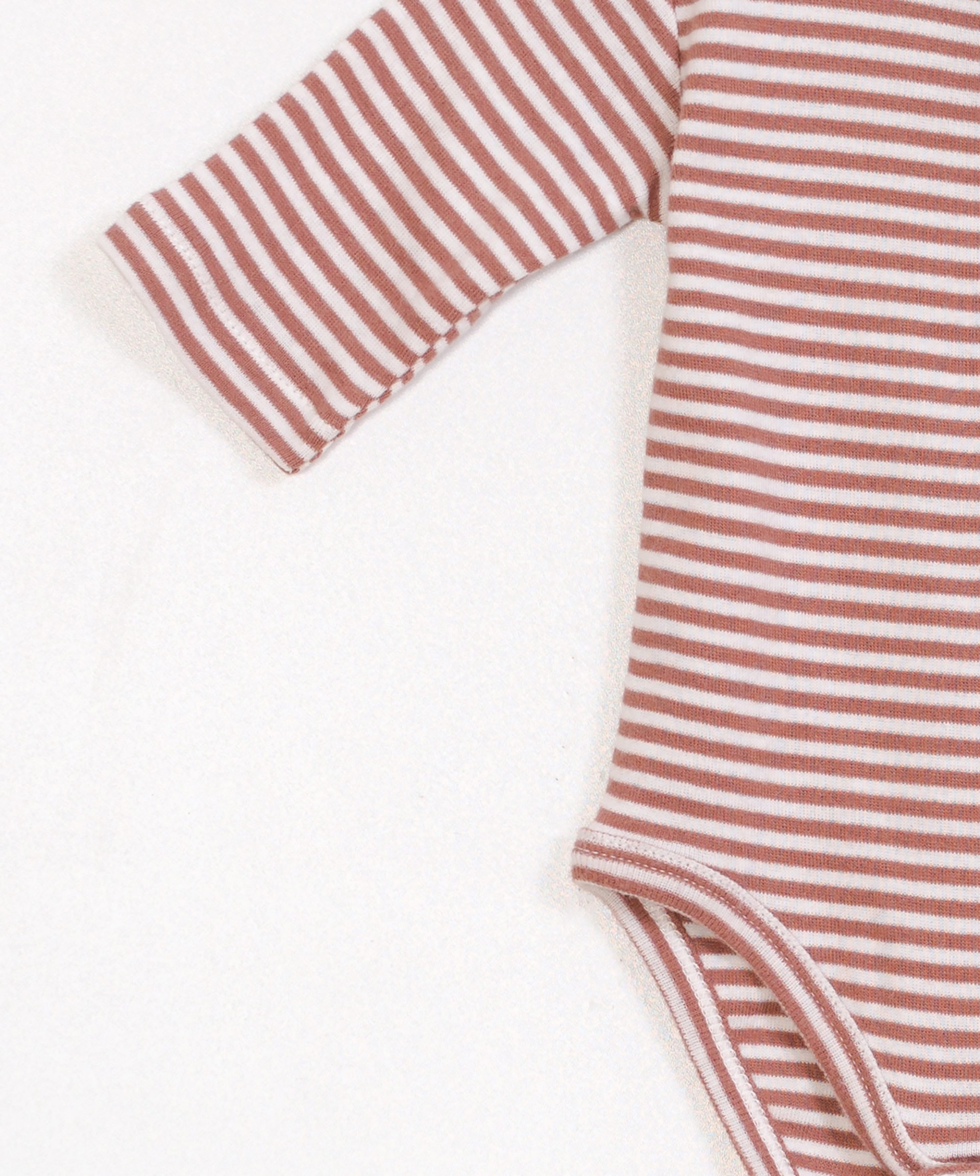 Collarless Striped Rib Bodysuit