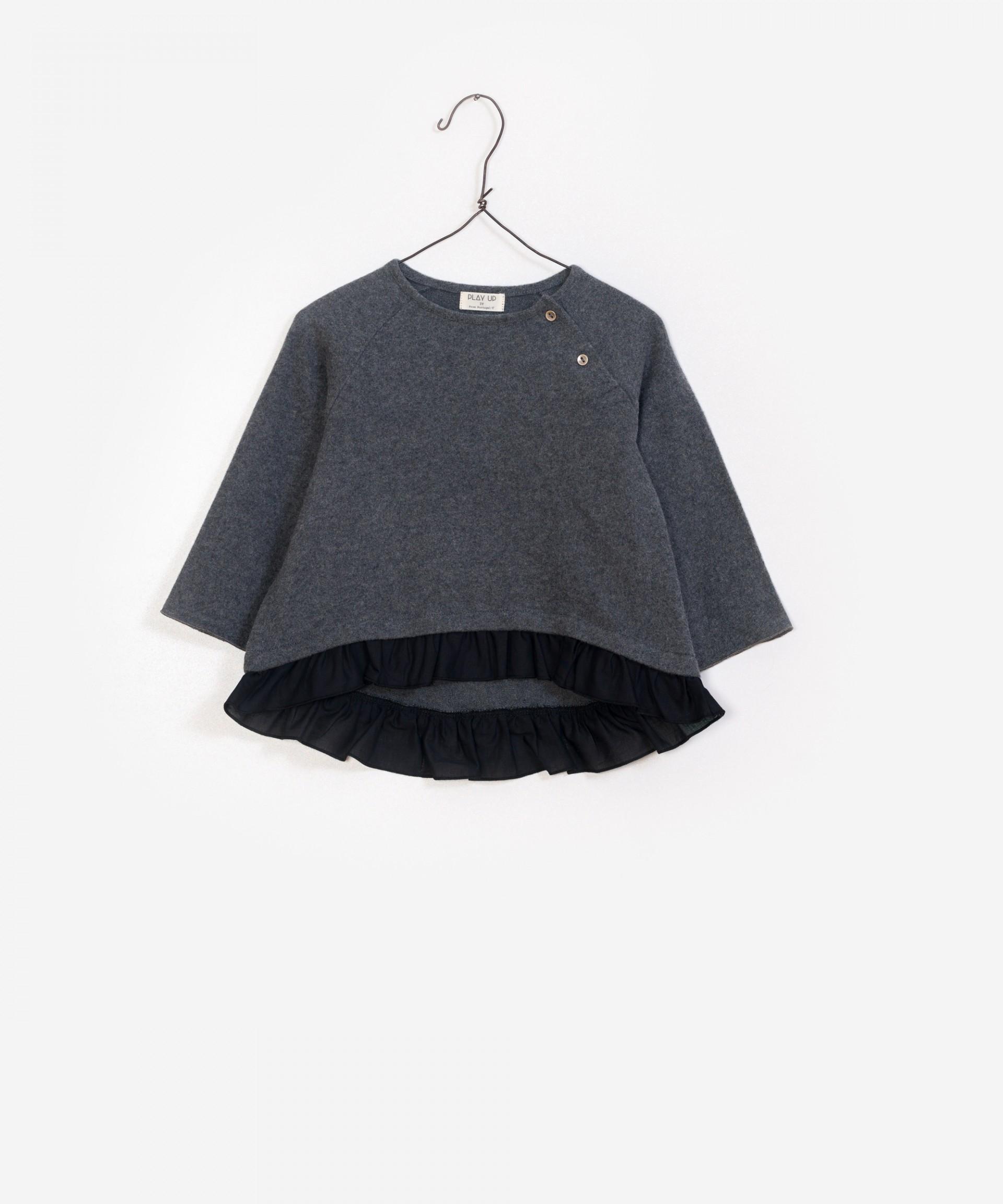 Sweatshirt com folho