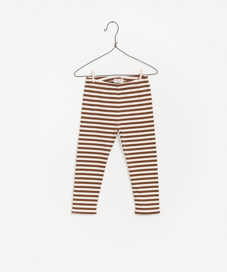 Striped Ponto Roma Legging
