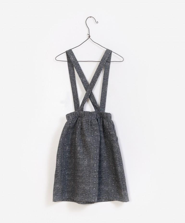 Printed Woven Dungaree Skirt