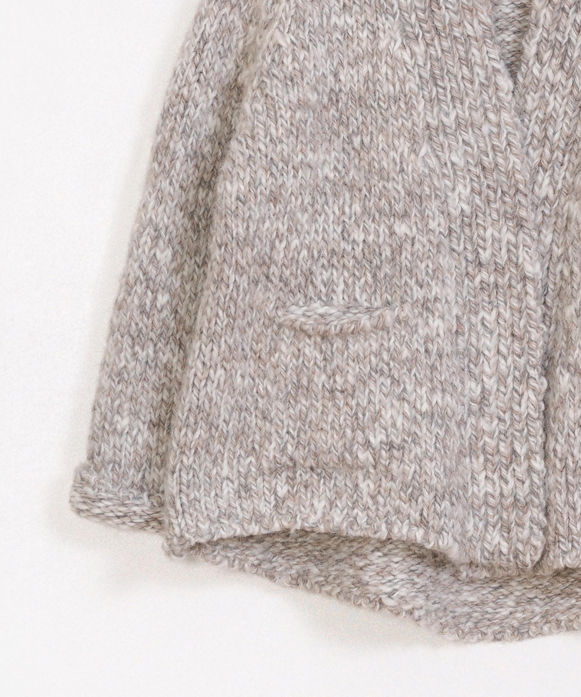 Chaqueta tricot con bolsillos